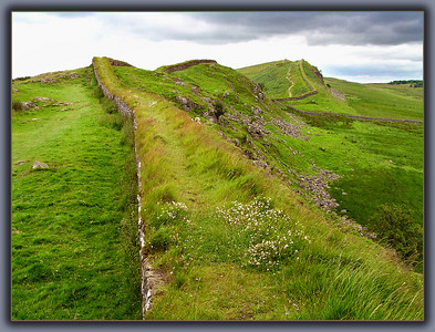Hadrian's Wall, near York in Yorkshire.