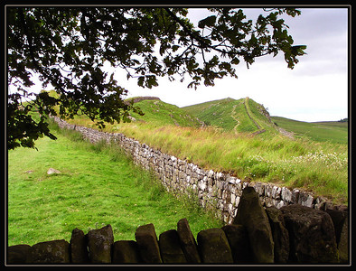 Hadrian's Wall extends 73 miles from sea to sea across one of the narrower parts of northern England.