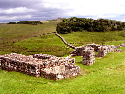 Hadrian's wall was built in AD 122 to mark the northern most boundary of Roman control in the British Isles.