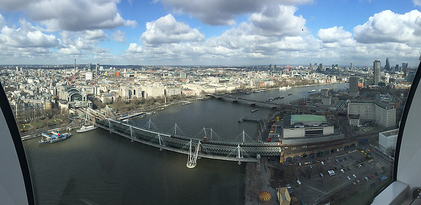 Multi image panorama of the view to the North from the London Eye.