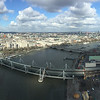 """<span style=""""color:yellow;""""> Multi image panorama of the view to the North from the London Eye.  </span>"""