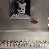 """<span style=""""color:yellow;""""> There is also a museum dedicated to the life of Churchill in the War Rooms.  Here we see his baby photo, a lock of his baby hair, and some of his toy soldiers.  </span>"""