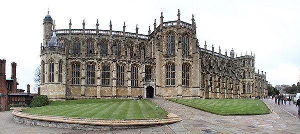 And on the other end is the larger of the two chapels, the St. George's Chapel.