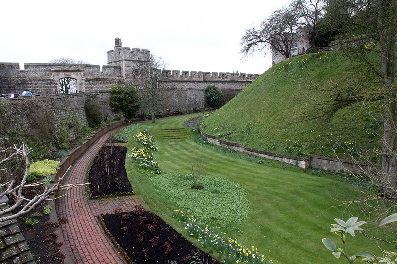 The garden area surrounding the most fortified part of the castle.