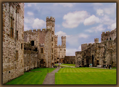 Caenarfon Castle was instrumental in Edward I's conquest of Wales.