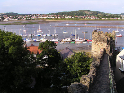 Conwy harbor from the town walls.