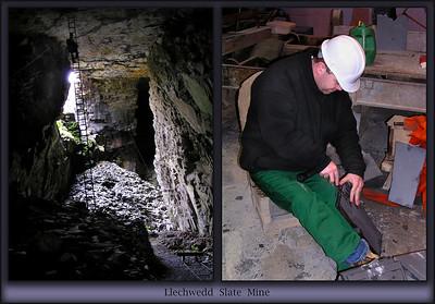 Llechwedd Slate Mines in Wales.