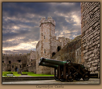 Caenarfon Castle was built in the 13th century by Edward 1st of England.