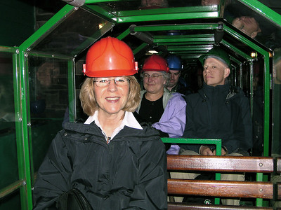Touring the Llechwedd slate mine.