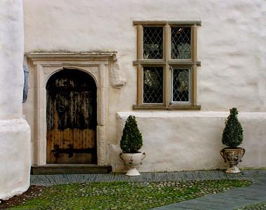 An exterior door, Plas Mawr.