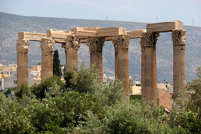 We start our first walk around Athens from the foot of the Temple of Olympian Zeus.  More of this temple later.