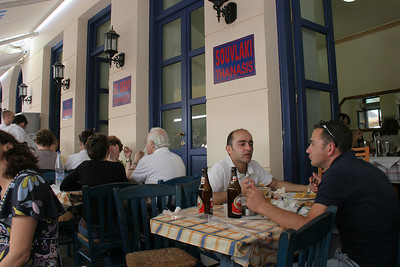 "Next:  Souvlaki for lunch near Monastiraki Plaza.  This restaurant, ""Thanasis"", was recommended by Alex Kritselis, my Greek friend at PCC.  It was very good, and full of Greeks who also obviously thought it was good too!"