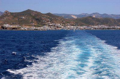At last ... leaving Naxos, on our way to Santorini.
