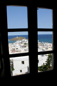 The view over Chora from a small museum in the central hilltop fortress.