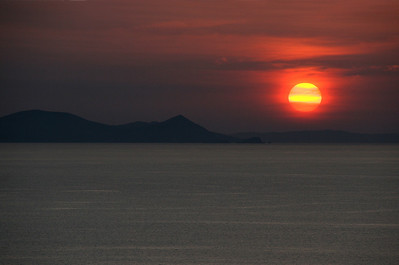 Our last view of a Greek sunset.