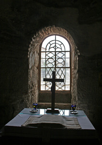 The crypt of the Monastery of Osios Loukas.