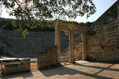 We visited Epidaurus when it first opened in the morning and were lucky to be all alone in this famous site; a highly recommended plan for visiting!