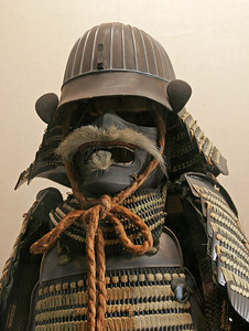 A suit of armor of a Shogun era Himeji Castle samurai.  According to this, these guys were surprisingly small.
