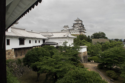 Himeji is famous for its major castle from the shogun era.  This large castle is the best preserved one in Japan.