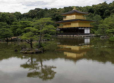 Kinkaku Ji, also known as the Golden Pavilion, is one of the most important cultural sites in Japan.  Built about 1490 by a Shogun who retired at age 37 to become a priest.