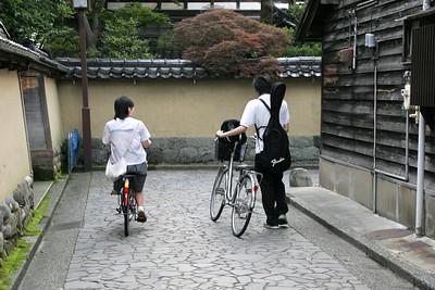 A street in the Nagamachi Samurai Quarter of Kanazawa.