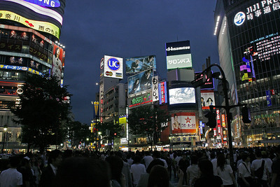 After visiting Kamakura (Gallery #3) on our first day, we spend the evening in the commercial district of Shibuya.  The crowds of people are quite incredible!