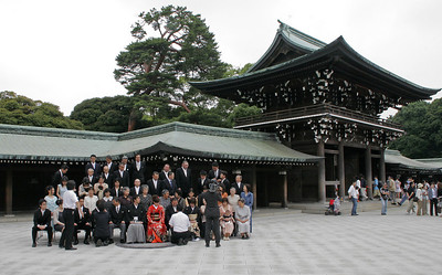 The Meiji Shrine is the shrine associated with the Emperor.  So, we think you have to be somebody pretty important to have your wedding there.