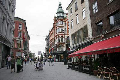 We start our time in Oslo with a walk around the city.  Much of the main street, Karl Johans Gate, is a pedestrian mall.