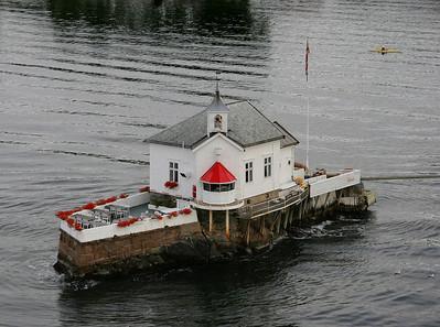 A small lighthouse island very near Oslo.