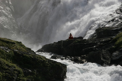Legend says that a temptress lives behind Kjosfossen Falls and tries to lure men into danger with her singing.