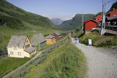 Another view of the train station at Myrdal.