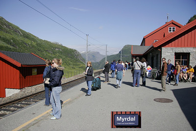 Myrdal was the end or our train ride into the central Norwegian mountains.  Here we transfer to another train for the ride down to Flam on the Sognefjord.