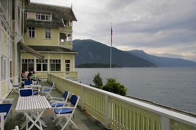 The Kviknes hotel was founded by Knut Kviknes, whose wife built the St. Olaf's Church.