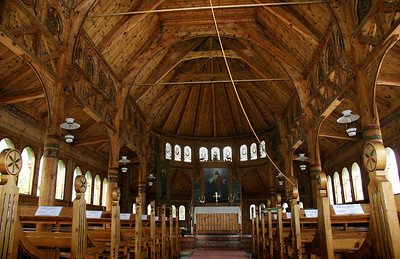Interior, St. Olaf's Church.  The English founder wanted a chruch where English services could be held.