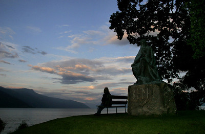 Bele is a legendary king in Nordic mythology.  His statue sits atop a Viking burial mound in Balestrand.