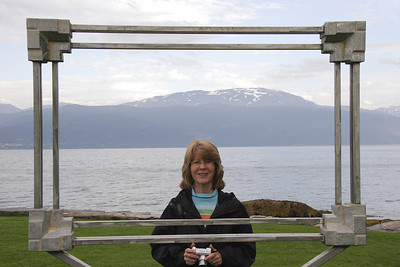 There were picture frames at several sites in Balestrand through which one was to view the natural splendor!