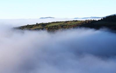 Morning valley fog.