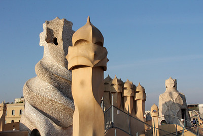 Vents and chimneys, Casa Milà roof.