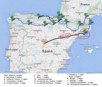 "We traveled from Madrid to Barcelona by ""bullet train""."