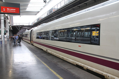Our bullet train in the Madrid station.