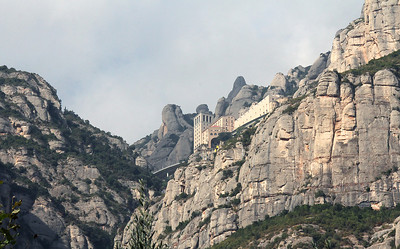 A telephoto shot of the monastery from the train station.