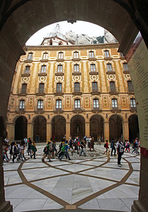 Basilica courtyard.  (5 images stacked vertically)