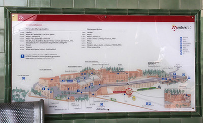 The layout of the large monastery complex.  One can arrive here by gondola as we did, or by hiking, by cog railway, or by car.