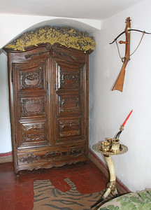 The rooms of the house are full of odd knick knacks liked by Salvador and his wife/muse Gala.