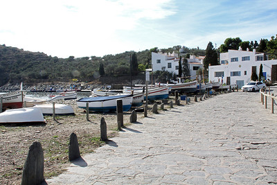 The walkway along the edge of Portlligat Bay leading up to Dalí's house (on the left at the far end).