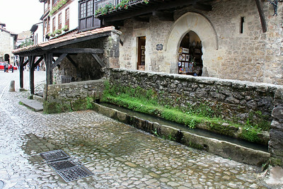 The town's medieval water source, still functioning, but not overtly used.