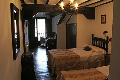 Our room up on the 3rd floor (European 2nd floor) of the Posada Ansorena.