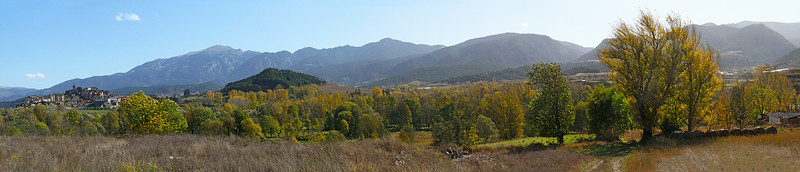 High valley Spanish Pyrenees panorama.