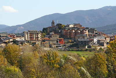 Hilltop town, Spanish Pyrenees.