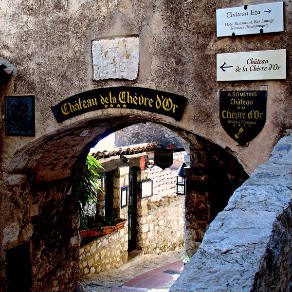 The archway that leads to the midieval village of Eze.